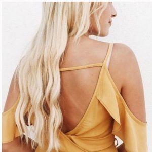 Carly Jean Los Angeles Mustard Dress